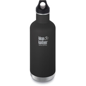 Klean Kanteen Classic Vacuum Insulated Bottle Loop Cap 946ml, shale black matt